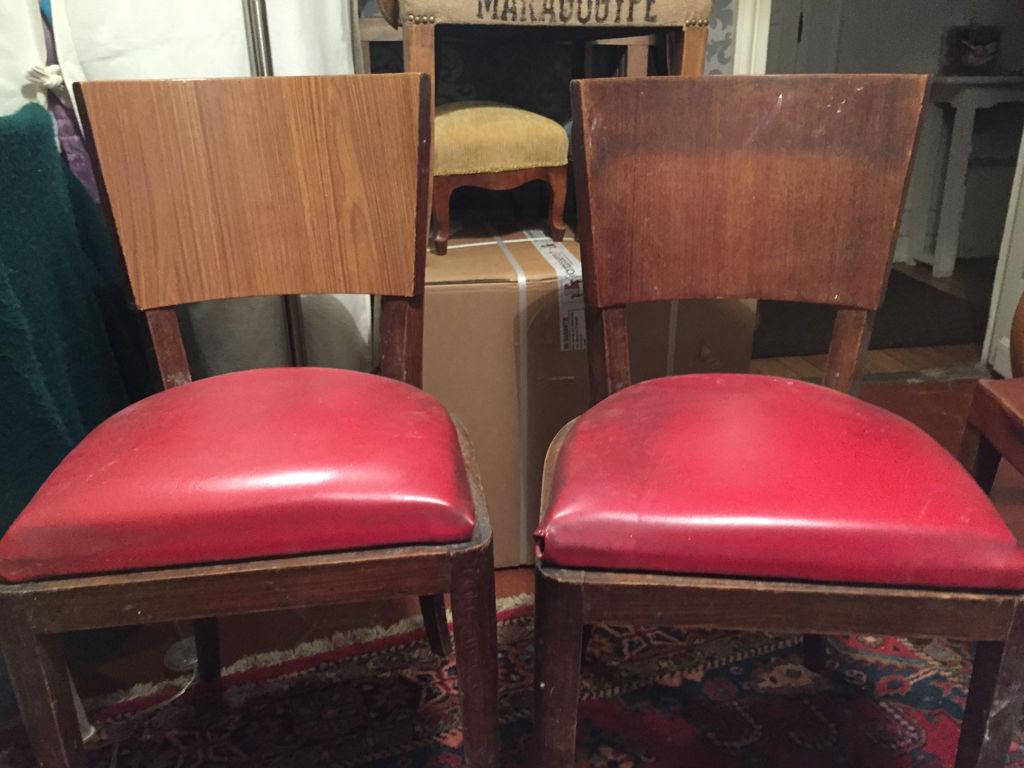 Duo de chaises - avant - face