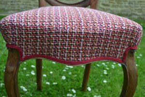 Chaise de style Louis Philippe en bois de palissandre - Pieds avant en cuisse de grenouille, pieds arrières en sabre.